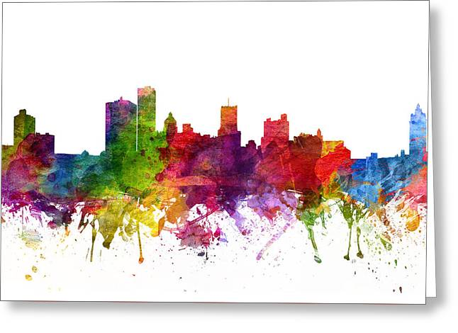 Rochester Cityscape 06 Greeting Card