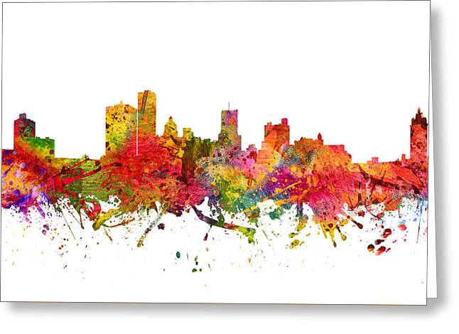 Rochester Cityscape 08 Greeting Card