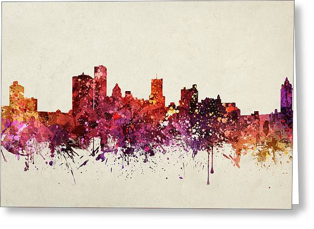Rochester Cityscape 09 Greeting Card