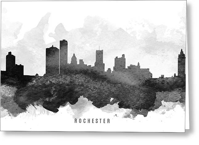 Rochester Cityscape 11 Greeting Card