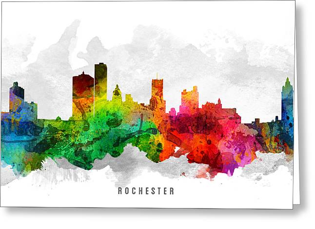 Rochester New York Cityscape 12 Greeting Card