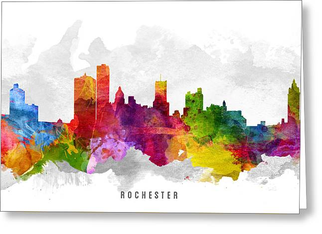 Rochester New York Cityscape 13 Greeting Card
