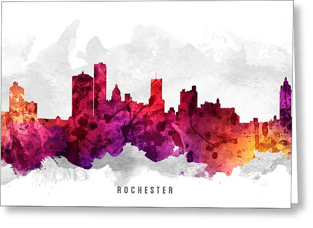 Rochester New York Cityscape 14 Greeting Card