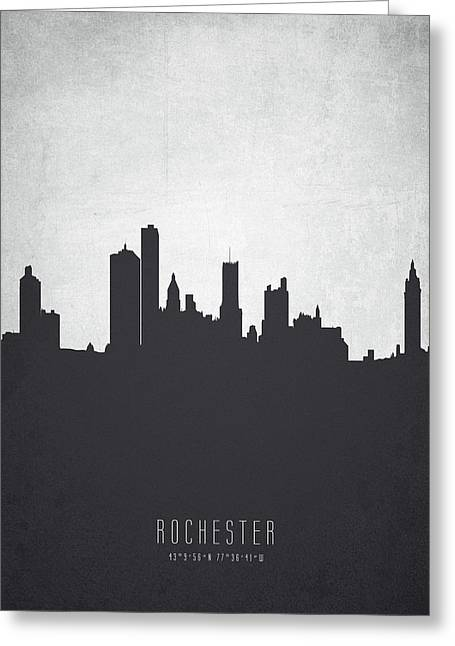 Rochester New York Cityscape 19 Greeting Card