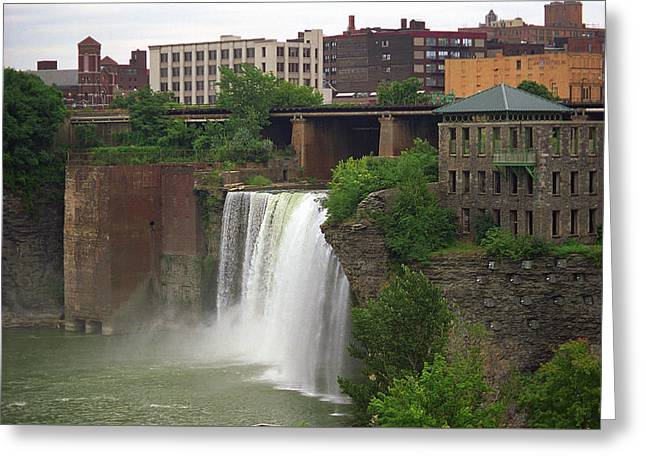 Greeting Card featuring the photograph Rochester, New York - High Falls 2 by Frank Romeo