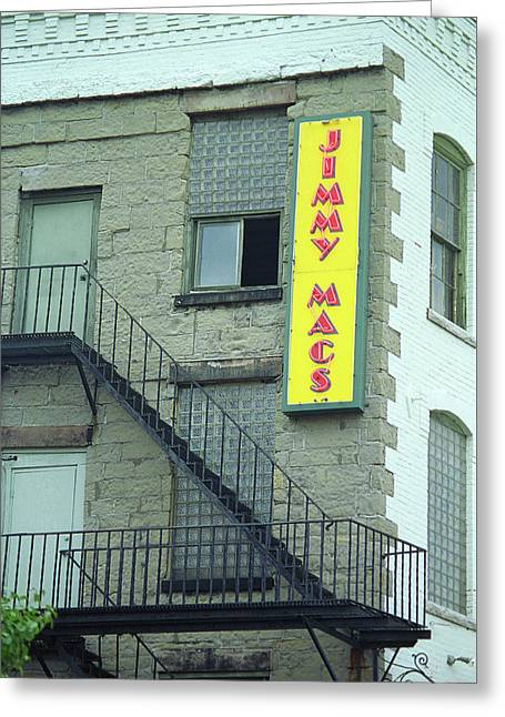 Greeting Card featuring the photograph Rochester, New York - Jimmy Mac's Bar 2 by Frank Romeo