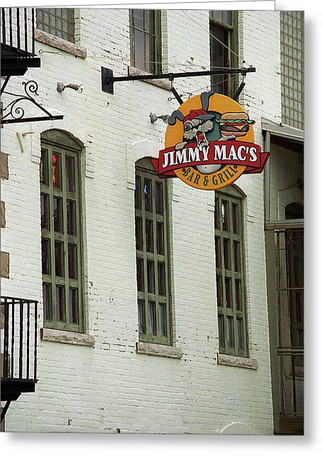 Greeting Card featuring the photograph Rochester, New York - Jimmy Mac's Bar 3 by Frank Romeo
