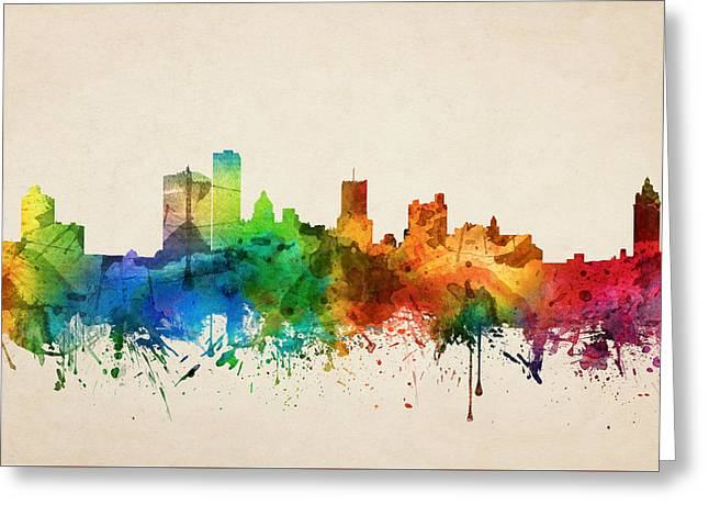 Rochester New York Skyline 05 Greeting Card