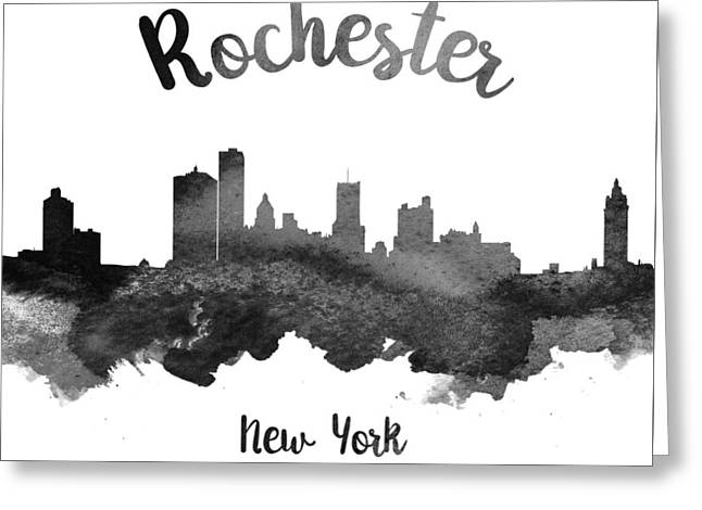 Rochester New York Skyline 18 Greeting Card