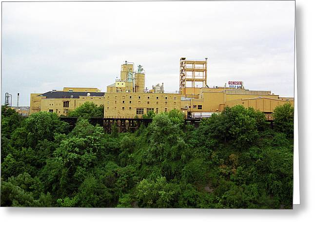Greeting Card featuring the photograph Rochester, Ny - Factory On A Hill by Frank Romeo