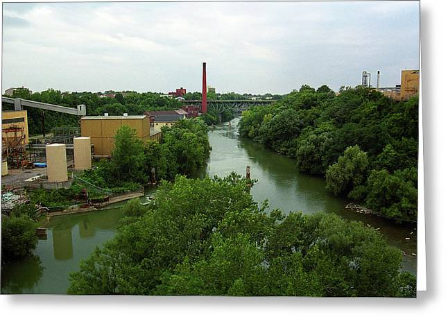 Rochester, Ny - Genesee River 2005 Greeting Card by Frank Romeo