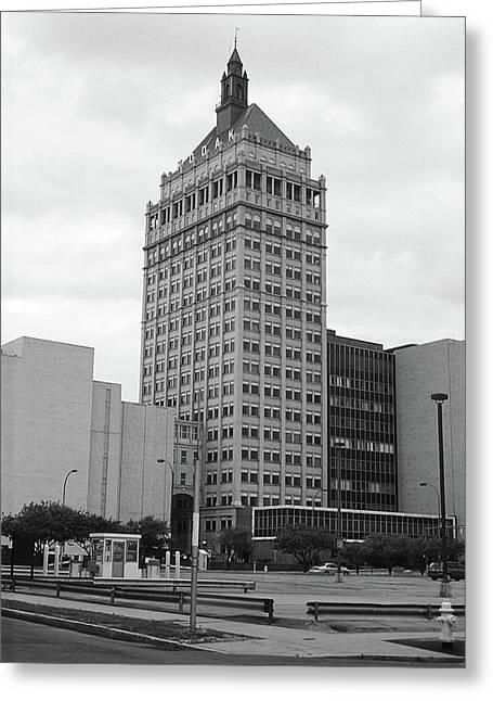 Rochester, Ny - Kodak Building 2005 Bw Greeting Card