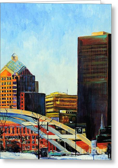 Rochester New York Late Winter Greeting Card by Jodie Marie Anne Richardson Traugott          aka jm-ART