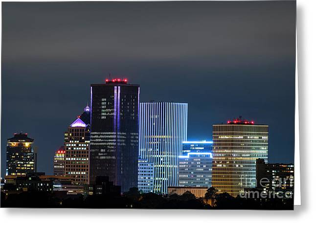Rochester Ny Twilight Greeting Card