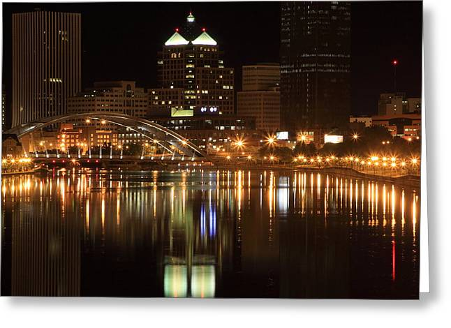 Rochester On The Genesee Greeting Card by Don Nieman