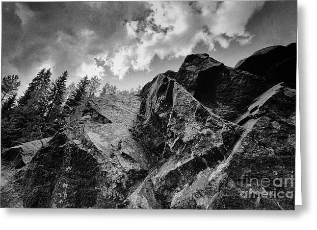 Rock #9542 Bw Version Greeting Card