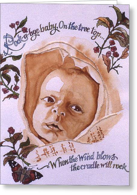 Rock A Bye Baby Greeting Card by Victoria Heryet