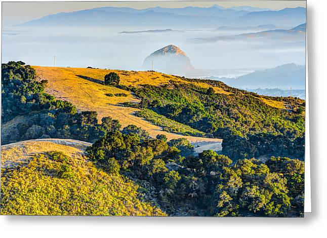 Rock And Fog Greeting Card by Bill Rumbler
