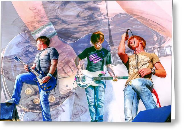 Rock And Roll Band Version 1 Greeting Card by Randy Steele