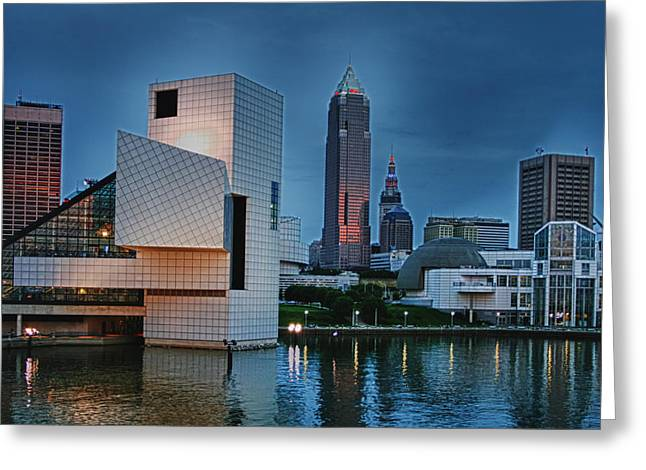 Rock And Roll Hall Of Fame And Museum Greeting Card by Richard Gregurich