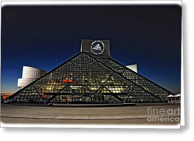 Greeting Card featuring the photograph Rock And Roll Hall Of Fame - Cleveland Ohio - 5 by Mark Madere