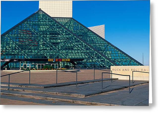 Rock And Roll Hall Of Fame Museum Greeting Card by Panoramic Images