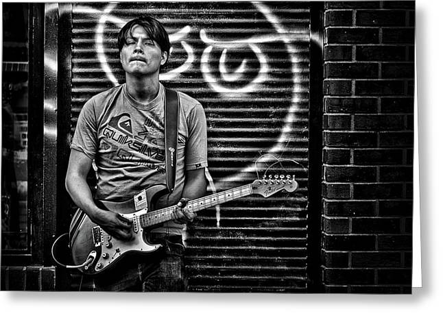 Rock And Roll In Kensington Market Greeting Card by Brian Carson