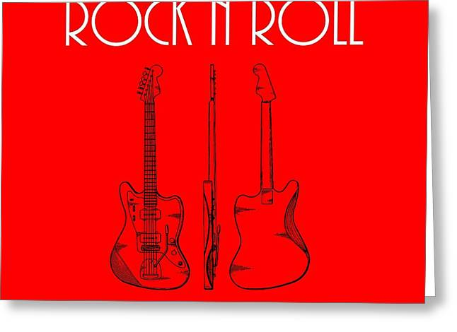 Rock And Roll Poster Greeting Card