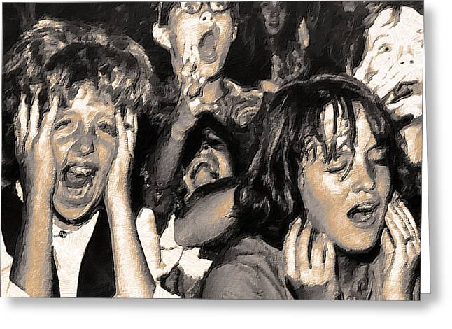 Rock And Roll Rapture 4 Painting Greeting Card by Tony Rubino