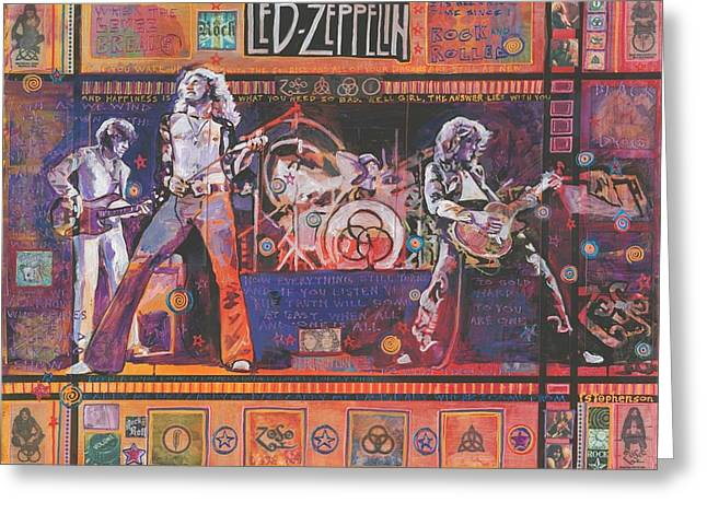Rock And Roll Greeting Card