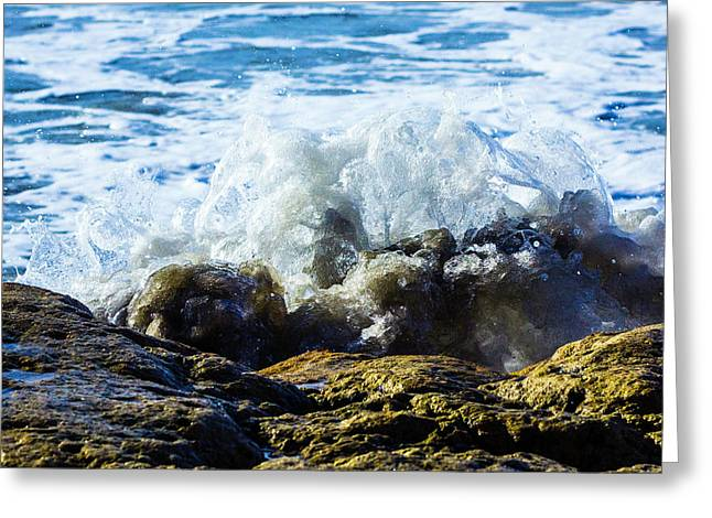 Wave Meets Rock Greeting Card