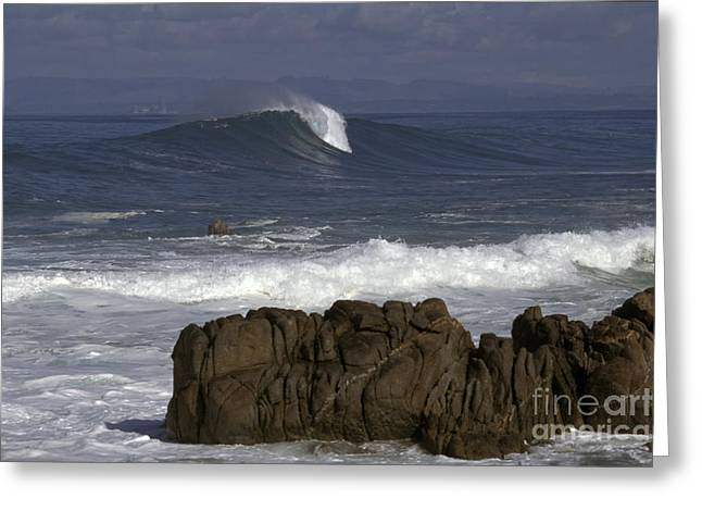 Rock And Wave Greeting Card by Stan and Anne Foster