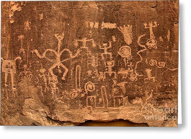 Rock Art At Chaco Canyon Greeting Card