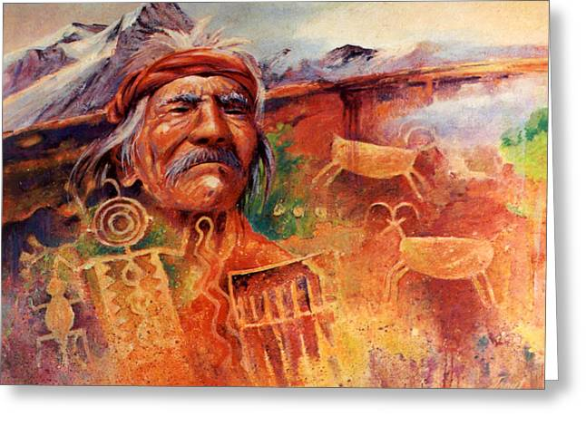 Rock Art Greeting Card by Don Trout