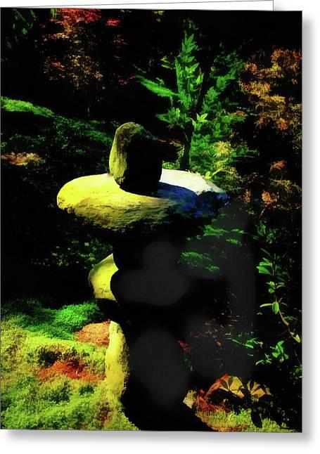 Rock Balancing  Art Greeting Card