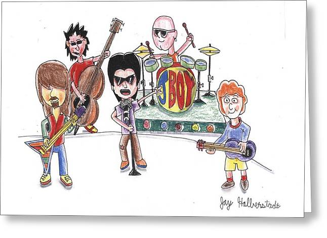 Rock Band Greeting Card