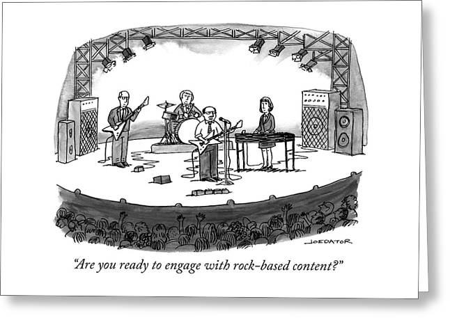 Rock Based Content Greeting Card