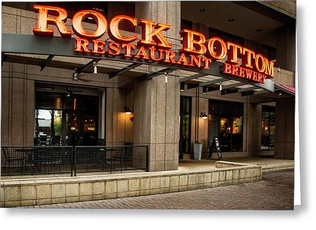 Rock Bottom Restaurant And Brewery Greeting Card