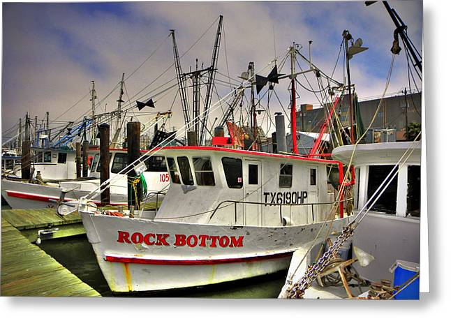 Greeting Card featuring the photograph Rock Bottom by Savannah Gibbs