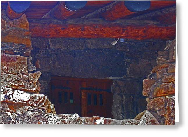 Greeting Card featuring the photograph Rock Building by Tammy Sutherland