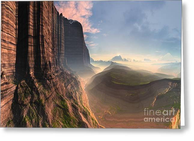 Rock Climber's Dream Greeting Card by Heinz G Mielke