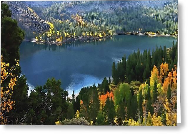 Rock Creek Lake In Fall Greeting Card