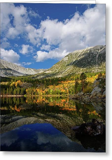 Rock Creek Lake Reflection Eastern Sierra Greeting Card