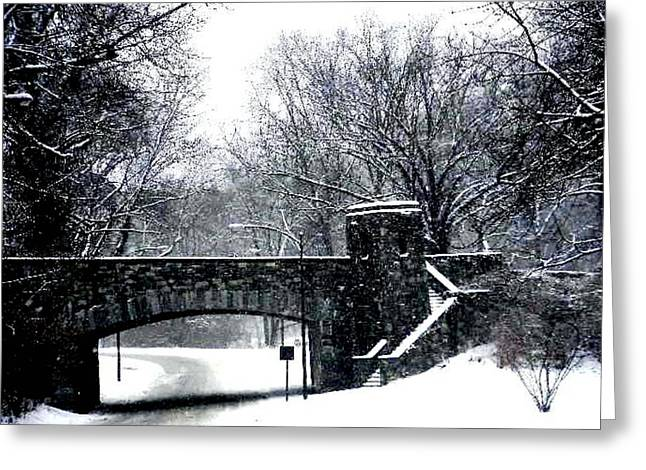 Rock Creek Parkway Washington Dc Greeting Card by Fareeha Khawaja