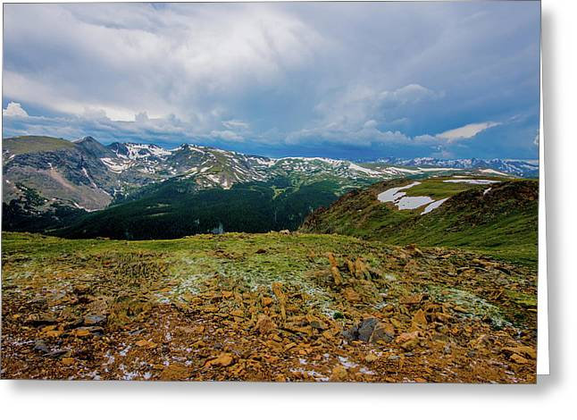 Greeting Card featuring the photograph Rock Cut 2 - Trail Ridge Road by Tom Potter