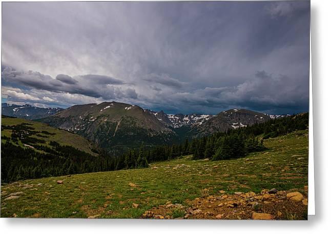 Rock Cut 3 - Trail Ridge Road Greeting Card by Tom Potter