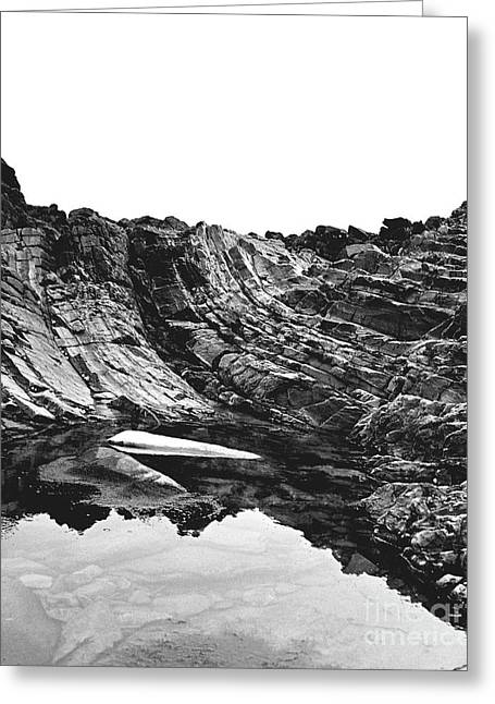 Greeting Card featuring the photograph Rock - Detail by Rebecca Harman