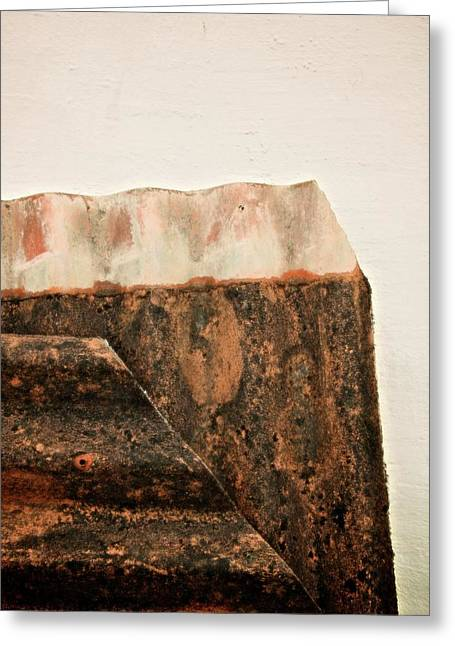 Rock Face Greeting Card by Odd Jeppesen