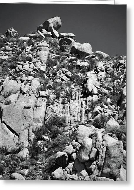 Rock Face Sandia Mountain Greeting Card