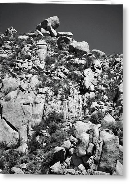 Rock Face Sandia Mountain Greeting Card